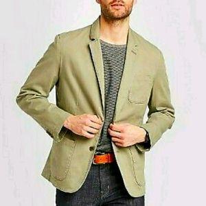 Men's Kenwood Army Green Twill Blazer Size Large